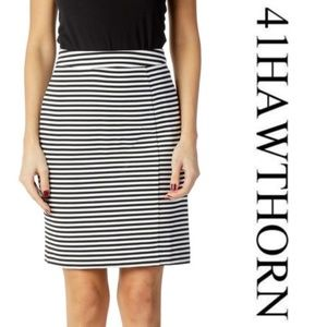 41 Hawthorne black & white Walt skirt/larg